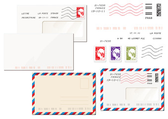 enveloppes et timbres français