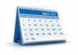 Calendario 2012. Abril