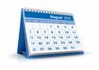 Calendario 2012. Agosto