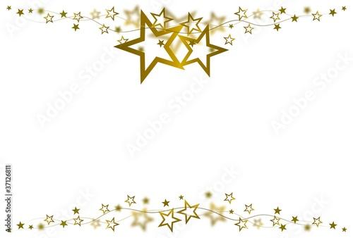 goldener Sternrahmen