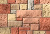 Sandsteinwand gestrichen horizontal