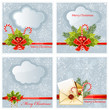 Set of snow Christmas background