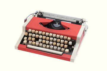 Retro typewriter with cyrillic keyboard layout