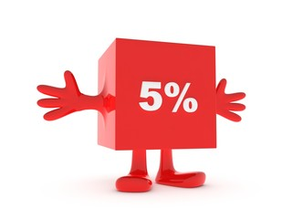 5 Percent discount happy figure
