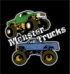 Monster trucks vector