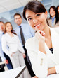 Corporate female worker
