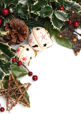 Jingle bell and star Christmas border