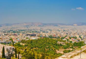 Beautiful panorama of Athens
