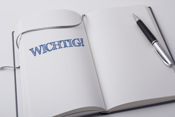 Notizbuch WICHTIG, grau