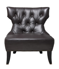 Image of black luxury chair isolated on white background