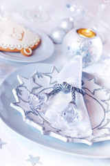 Luxury table setting for Christmas