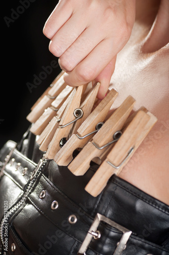 Fetish clothespins