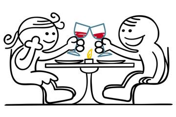 figur flirtet beim essen