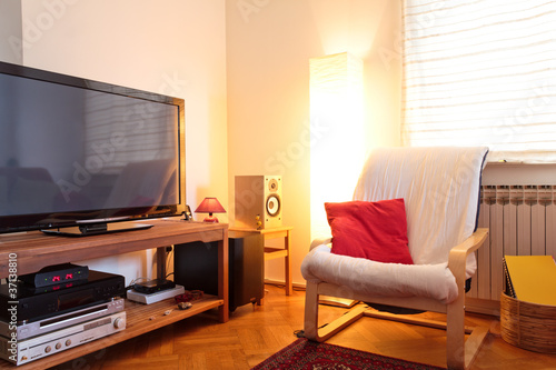 Living room lighten with ambient light