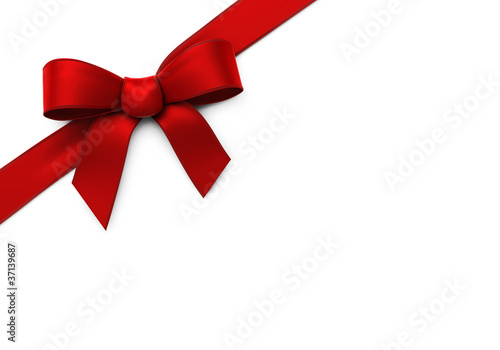 Red silk corner ribbon