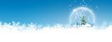 Fototapety Schneekugel, Glaskugel, winterlich, verschneit, zugeschneit