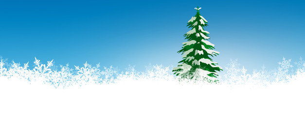 Tannenbaum, Eisblumen, Schneeflocken, zugeschneit, Schnee