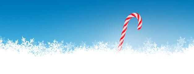 Winter, Hintergrund, Zuckerstange, Weihnachten, blauer Himmel
