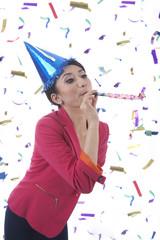 Beatufitul Woman Celebrating New Year