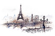 canvas print picture - Paris (series C)