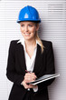Confident Smiling Woman In Hard Hat