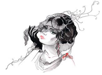 beautiful glamour woman (series C)