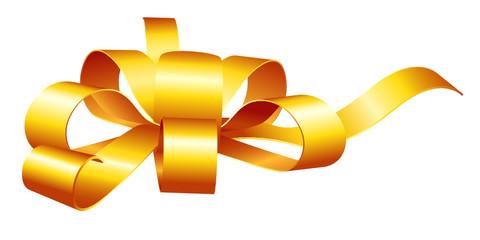 Geschenkschleife, goldfarben, Geschenkband, Dekoration
