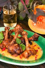 A delicious chicken dish.