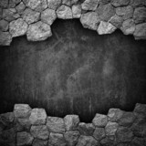 Fototapety stone wall with hole