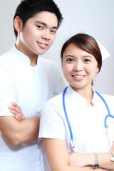 Nurses in white