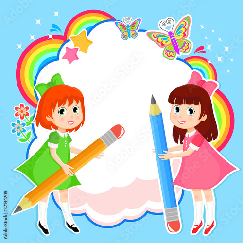 Poster Regenboog imagination and creativity