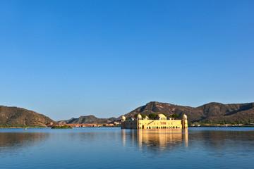 Water Palace (Jal Mahal) in Man Sagar Lake. Jaipur, Rajasthan