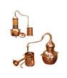 alcohol distillery - alembic copper