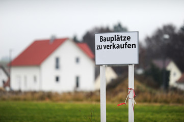 Schild Bauplätze zu verkaufen