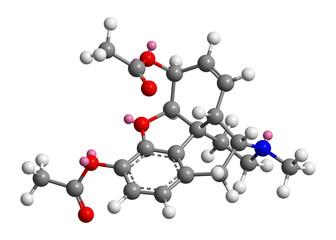 Molecular model of heroin