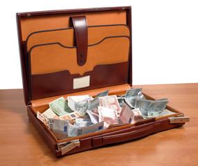 Maletín con dinero