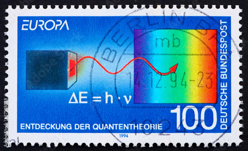 Postage stamp Germany 1994 Max Planck