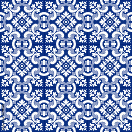 Carrelage motif ancien portugais fichier vectoriel libre for Carreaux faience anciens