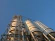 Silo für Baustoffe am Osthafen in Frankfurt am Main