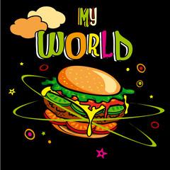 hamburger planète monde alimentation