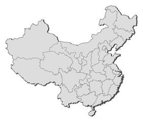 Map of China, Macau highlighted