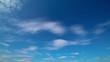 Schäfchenwolken im Zeitraffer