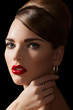 Alluring vintage romantic style, chic makeup, luxury jewellery