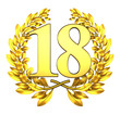 18 eighteen number laurel wreath