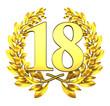 18 eighteen number laurel wreath