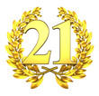 21 twentyone number laurel wreath