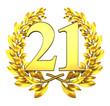 21 twentyone number laurel wreath