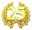 25 twentyfive number laurel wreath