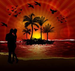 couples on beach