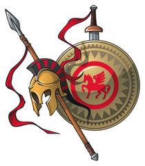 Greek coat of arms, vector illustration